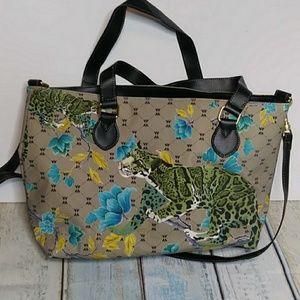 Handbags - Like New Tiger Floral Tote Crossbody Option